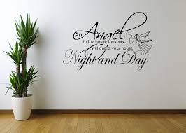 angel night home quote art wall sticker decal  on home wall art quotes with angel night home quote art wall sticker decal mural stencil vinyl