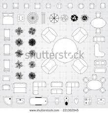 floor plan furniture vector. Set Of Simple Flat Vector Icons Furniture For Floor Plan Outline. Editable EPS10 Illustration - Stock W