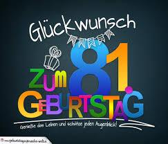 Sprüche Zum 81 Geburtstag Karte Mit Schönem Spruch Zum Nachdenken