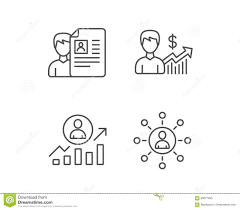 networking for a job cv business networking and get a job icons stock vector