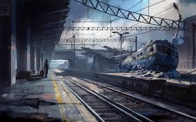 wallpaper armageddon abandoned train