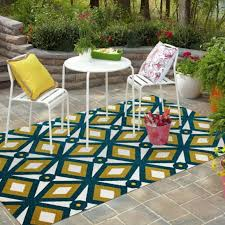all weather outdoor floor area floor area rug blue gold