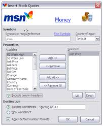 Msn Stock Quotes