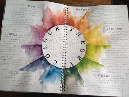 colour theory sketchbook page more