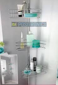 Telescopic Shower Corner Shelves 100 Shelf Tension Rod Bathroom Corner Shelf Storage Unit Amazonco 63