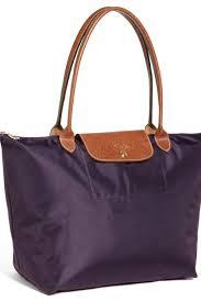Shop Longchamp Le Pliage Large Shoulder Tote Bag Bilberry