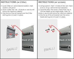 how to hang metal wall art mounting