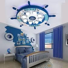 kids room ceiling lighting. LED Ceiling Lights Mediterranean Creative Kids Room Lamps Bedroom Boys Rudder Cartoon Mounted Luminaire ZH Lighting