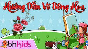 Hướng Dẫn Vẽ Tranh - Tập Vẽ Cho Bé - Vẽ Bông Hoa - YouTube