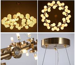 cute milk white bubble ball glass chandelier modern new design led chandelier lighting