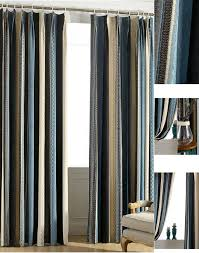 new arrival chenille multi color striped curtains