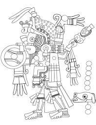 Azteekse Kunst Kleurplaat Gratis Kleurplaten Printen