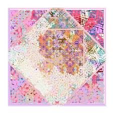 """Women's silk <b>square scarf</b>, gift for her by Irene Paris, """"LILY-<b>ROSE</b> ..."""