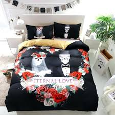 skull bedding flowers wedding skull bedding sets king duvet cover with pillow case style sugar skull bed linen queen size bed cotton duvet covers queen