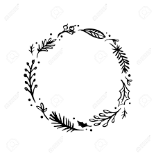 Branch Template Floral Rustic Branch And Leaves Wreath For Wedding Invitation