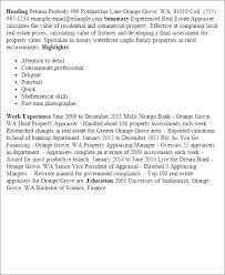 Commercial Appraiser Sample Resume Delectable Real Estate Appraiser Resumes Radiovkmtk