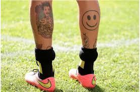10 Nejhorších Tetování Fotbalistů Messiho černá Noha A Další