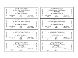 Admit One Ticket Template Free Inspiration Dinner Ticket Template Free Event Printable Christmas Templates
