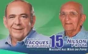 Resultado de imagem para PREFEITO JACQUES ALBUQUERQUE E NILSON FROTA