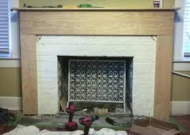 tiling a brick fireplace fireplace surround tile refacing brick fireplace