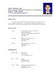 Sample Resume Format For Fresh Graduates Philippines Fresh Sample