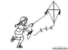 Small Picture coloring pages of child flying kites Coloring book with boy and