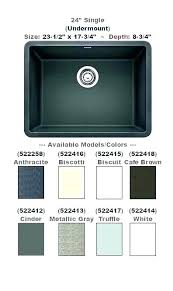 Blanco Sink Colors Chart Blanco Sink Colors Which Blanco Silgranit Sink Colors Cinder