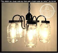 jar light fixture mason jar chandelier 5 light cer new quarts glass jar light fixture