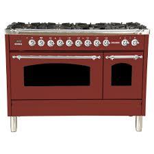 kitchenaid 48 range. Hallman 48 In. 5.0 Cu. Ft. Double Oven Dual Fuel Italian Range True Kitchenaid