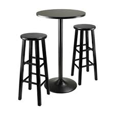 winsome wood obsidian 3 piece round bar height pub table set lowe s canada