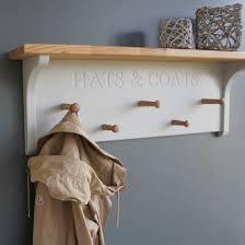 Painted Coat Rack Simple Hallway Shelves Coat Racks Storage Ideas
