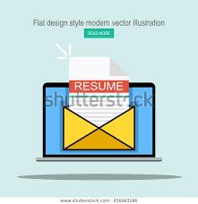 Envelope For Resume Laptop Envelope Resume Letter Email Cv Stock Vector Royalty