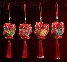 Small Picture 2017 Chinese New Year Mascot Embroidery Stuffed Fluffy Rooster