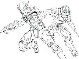 Coloring Halo Coloring Page Carter Helmet Spartan Free Top Rated