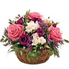 Basket Flower Decoration Scented Basket Arrangement 30cm Dia Beautiful Basket Of Roses