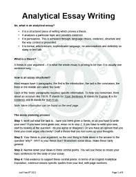 write a successful analytical essay how to write a good analytical essay examples format au