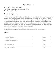 Template Of A Contract Between Two Parties Payment Agreement Letter Between Two Parties Template Contract As Of