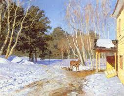 Весна в картинах русских художников Картина Левитана Март