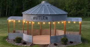 a grain silo turned into gazebo could