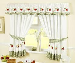 Kitchen Curtains Green