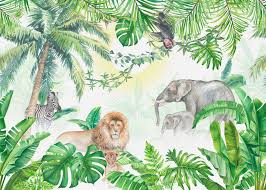 Jungle Animals – high-quality wall murals with free UK delivery – Photowall