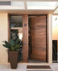 modern wooden front door in doors and design wood exterior