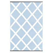 awesome blue and white indoor outdoor rug home lightweight reversible diamond light blue white indoor