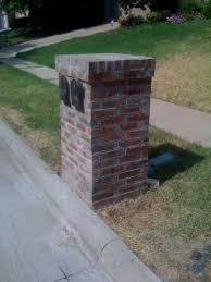 double mailbox designs. Double Brick Mailbox - Harper Construction TX Designs T