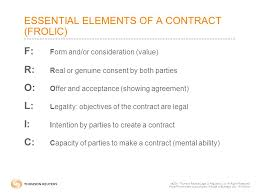 Contract Essential Elements Interesting CHAPTER 44 INTRODUCTION TO THE LAW OF CONTRACTS  44 Thomson