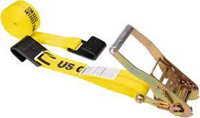 US Cargo Control - Flat Hook Ratchet Strap - Ratchet Tie Down - 2 Inch Wide  X 27 Foot Long - Yellow Ratchet Strap - Black Flat Hook - Weather Resistant  Strap - 3, 333 Pound Working Load Limit - - Amazon.com
