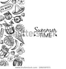 Vector Background Sketch Summer Illustrations Stock Vector Royalty