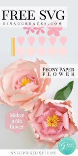 Check out our images and download your favorites in jpg and svg. Peony Paper Flower Free Svg Cut File Gina C Creates
