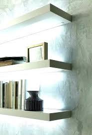 floating shelves with lights shelf with lights underneath floating shelves lighting pin on and interiors x floating shelves with lights