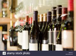 stack wine. A Selection Of Wine Bottles On Shelf - Stock Image Stack N